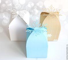 """Купить """"Снежинка"""" подарочная упаковка - разноцветный, снежинка, подарок, упаковка, упаковка для подарка, Новый Год"""