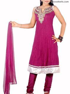 Magenta Shade Anarkali Shalwar Kameez | $125.00 | http://goodbells.com/salwar-suits/magenta-shade-anarkali-shalwar-kameez.html