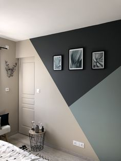 45 Amazing Geometric Wall Art Paint Design Ideas To Inspire You 45 Amazing Geome. - 45 Amazing Geometric Wall Art Paint Design Ideas To Inspire You 45 Amazing Geome… - Bedroom Wall Designs, Bedroom Decor, Paint Ideas For Bedroom, Wall Decor, Boys Room Paint Ideas, Home Office Paint Ideas, Bedroom Themes, Geometric Wall Paint, Geometric Shapes