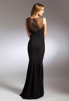 Spray Bead Illusion Neck Dress #camillelavie