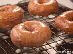 Homemade Glazed Doughnuts...easy! Made with refrigerated biscuits! From mr food