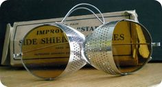 Vintage Amber Safety Glasses with Side Shields