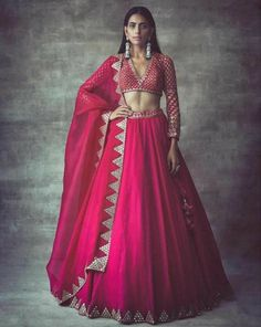 Hot pink pure raw silk lehenga bridal lehenga Hand work lehenga Upon order confirmation, we will send you a measurement chart/ Form which you will need to fill in inches ,so that it can made to your size Indian Gowns Dresses, Indian Fashion Dresses, Indian Designer Outfits, Designer Dresses, Fashion Skirts, Indian Designers, Saree Fashion, Pakistani Dresses, Fashion Outfits