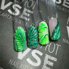 greenery nail art https://noahxnw.tumblr.com/post/160992256041/looks-so-delicious