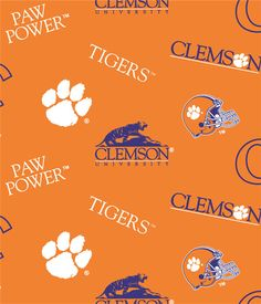 Mary Jo's Cloth Store - Fabrics - Clemson - 045 (College Logo)