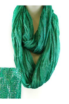 Shimmer Liam Infinity Scarf in Kelly