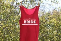 Personalized Bride Bold w/Wedding Date Tank or shirt