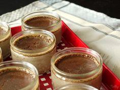 Petits pots de crèmes au chocolat allégées