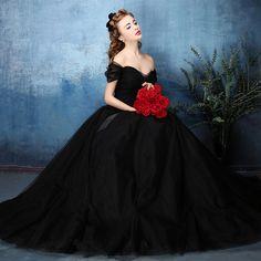 Vintage largo della spalla nero abiti da sposa 2016 boho abito da sposa abiti da sposa