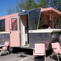 Amazing pink camper!