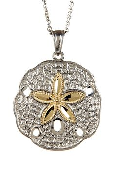 Two-Tone Sand Dollar Pendant Necklace