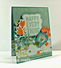 Rose Blossom Legacies: Happy Everything - Blossom paper and Operation Smile stamp set