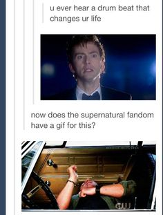 The Supernatural Fandom ALWAYS has a GIF for everything. We are everywhere. Never question our abilities