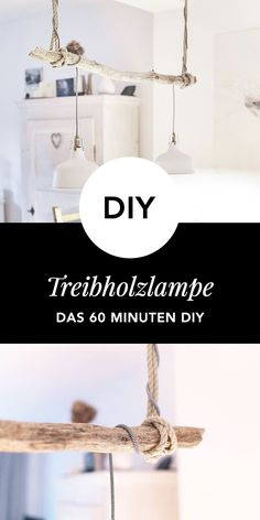 Anleitung: Vintage Treibholzlampe selber bauen - WOHNKLAMOTTE How about for the darker season with a Diy Pinterest, Driftwood Lamp, Room Lamp, Bed Room, Diy Décoration, Diy Interior, Rugs On Carpet, Sweet Home, Antiques