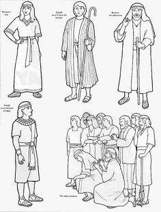 """Joseph """"holds to the Iron Rod"""" lds.org Flannel board figures"""