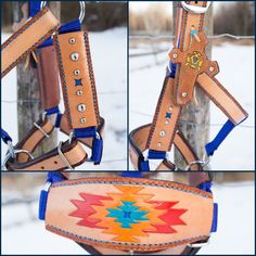 Brand new in our shop! Miniature Horse Halter, with handcrafted bronc noseband! Leather halter with some nylon, medium in size. Leather Halter, Leather And Lace, Navajo Pattern, Kelly S, Twelve Days Of Christmas, Pony Beads, Leather Design, Natural Leather, Leather Jewelry