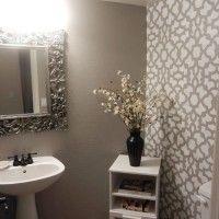 Zamira Stenciled bathroom using Cutting Edge Stencils  bathroom wall