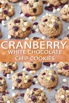 Cookie recipes 38139928082535620 - These white chocolate cranberry oatmeal cookies have a hint of orange zest and are perfect for the holiday season! These cookies are thick and chewy with a mix of tart and sweet! Source by bakerbettie White Chocolate Cranberry Cookies, White Chocolate Chip Cookies, Chocolate Cookie Recipes, Easy Cookie Recipes, Homemade Chocolate, Chocolate Chocolate, Healthy Chocolate, Small Cookies Recipe, Walnut Cookies