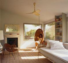 MAISON COUTURIER . color wall . light . bedroom . white . warm grey . vintage furniture .interior dessign . remodel