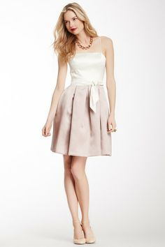 Two-Tone Belted Dress on HauteLook