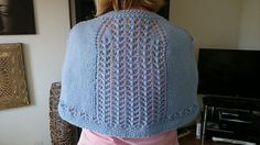 Shoulder shawl knitted for Jennie