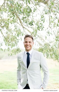Light, natural groom's suit with white shirt and navy tie Groom And Groomsmen, Getting Married, Topshop, Suit Jacket, Photograph, Mens Fashion, Suits, Navy, Stylish