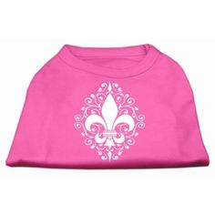 Mirage Pet Products Henna Fleur De Lis Screen Print Shirt, 3X-Large, Bright Pink * Find out more details by clicking the image : Dog Apparel and Accessories