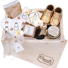 Welcome Baby gift box Vancouver - Elements Gift Boxes Canada