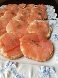 Tartine di burro e salmone