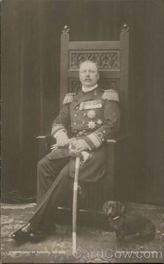 Kaiser Wilhelm and dachshund