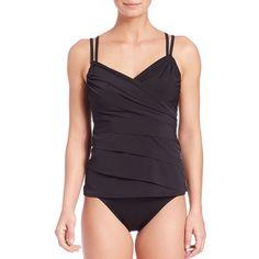 49ac6991534b3 Miraclesuit Swim Rumba Tankini Top ( 115) ❤ liked on Polyvore featuring  swimwear