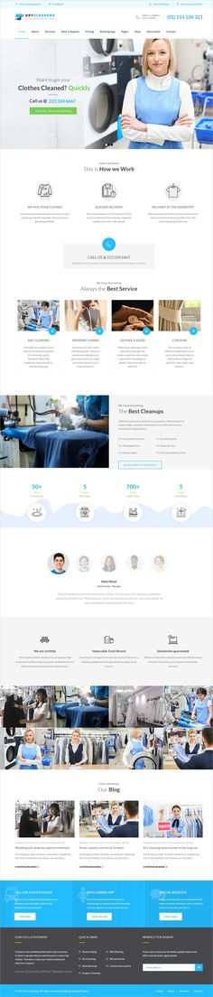 Dry cleaning is clean and modern design responsive #WordPress theme for #laundry, #washing and ironing service website download now >