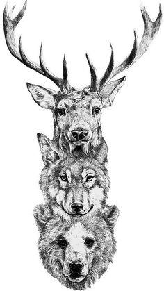 Dear wolf print idea