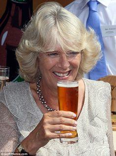 Camilla Parker Bowles Nude   Healthy tipple: The Duchess of Cornwall Camilla Parker-Bowles enjoys a ...