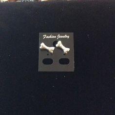 Dog Bone Earrings.925 stamped on backings.🆑 Silver Jewelry Earrings