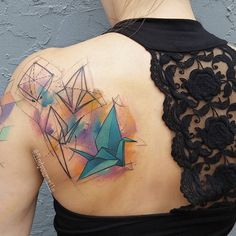 #watercolor #watercolortattoo #watercolour #watercolourtattoo #watercolortattoos #watercolourtattoos #tattoo #colortattoo #abstract #abstracttattoo #sketchtattoo #sketchytattoo #geometry #geometrytattoo #watercolorgeometry #watercolorgeometrytattoo #origami #origamitattoo #papercrane #papercranetattoo #origamicrane #origamicranetattoo #electricink #electrumstencilprimer #electra @electricink @oneinkseven #thankful  (at Hart and Huntington Orlando)