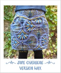Jupe Chataigne - Wax - zottelabougeotte.canalblog.com
