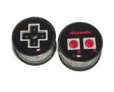 Nintendo Controller Plugs  1 Pair 2 plugs  Sizes g por GrudgePlugs, $17.95