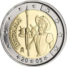 moneda conmemorativa 2 euros España 2005 (Quijote).