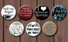 Supernatural Button Set  Choose 6 by TheGeekStudio on Etsy, $6.00