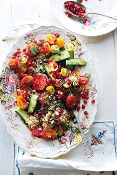 Quinoa, Tomato and Pomegranate Salad | Savoury Treats