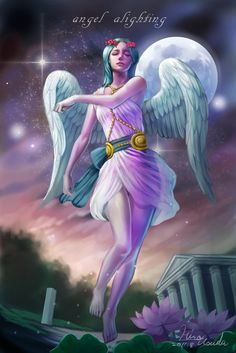 Angel alighting