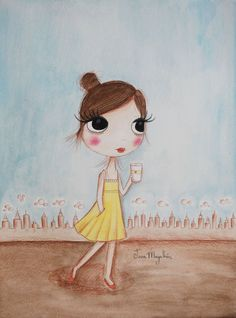 NY in the summer | Série Little moments | Guache sobre papel