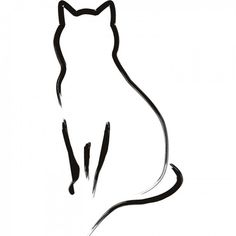 cat outline | Cat Outline Wall Sticker Animal Wall Art