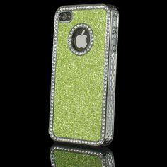 Luxury Bling Diamond Rhinestone Hard Case For iPhone in Green