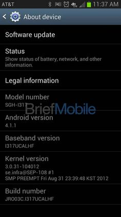 AT's Samaung Galaxy Note II SGH-I317 Details In Leaked Screenshots