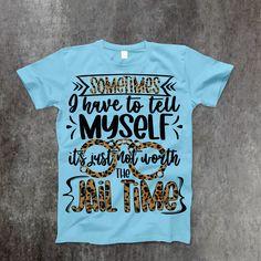Jail Time T-Shirt - 2XL / Sky Blue