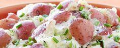 Quick Potato Salad Recipe Video - Need a new way to cook potato salad? Try Hidden Valley's Quick Potato Salad, guaranteed to please the whole family! Sponsored by Hidden Valley. Potato Salad Recipe With Ranch Dressing, Potato Salad Dill, Potato Salad With Egg, Salad Recipes Video, Healthy Salad Recipes, Healthy Chicken Recipes, Yummy Recipes, Yogurt Recipes
