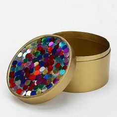 Magical thinking enamel confetti box