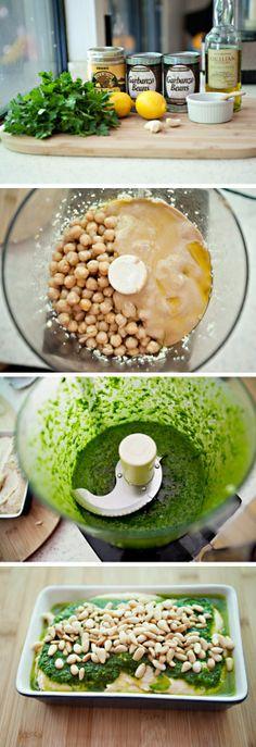 Parsley Pesto Hummus | Recipe By Photo